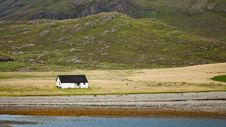 Free Seaside Cabin In Beautiful Landscape Stock Image - 21892221