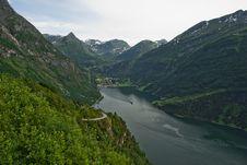 Free Geiranger Norway Fjord Royalty Free Stock Image - 21893326