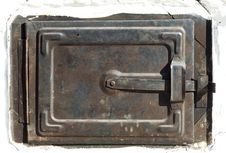 Traditional Old Oven Door, Raw Royalty Free Stock Photography