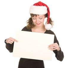 Free Young Girl In Santa Hat Royalty Free Stock Image - 21893826