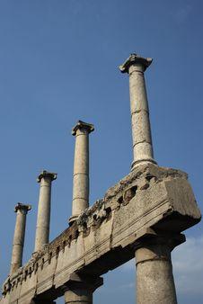 Pompei Columns Royalty Free Stock Image
