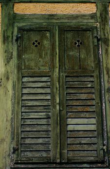 Free Old Medieval Window Shutters Stock Photography - 21894002