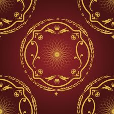 Free Seamless Pattern Vintage Background. Royalty Free Stock Images - 21894179