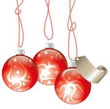 Free Christmas Balls Royalty Free Stock Image - 21894186