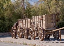 Wagon Train Stock Photo