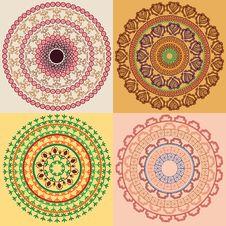 Colourful Henna Mandala Royalty Free Stock Images