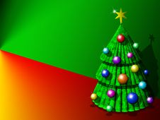 Free Abstract Christmas Tree Background-3d Royalty Free Stock Photos - 21897278