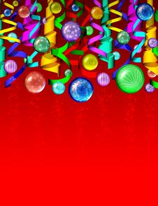 Free Christmas Colored Ornaments Background Stock Photography - 21897292