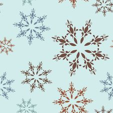 Free Seamless Pattern With Snowflakes Royalty Free Stock Photo - 21897475