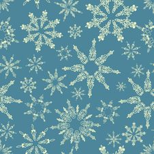 Free Seamless Pattern With Snowflakes Stock Photography - 21897482
