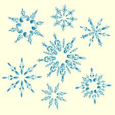 Free Set Of Vector Snowflakes Stock Photos - 21897483