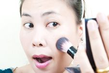 Free Close Up Asian Young Woman Make Up. Stock Photography - 21899422