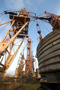 Free Old Elevating Cranes Royalty Free Stock Image - 2199776