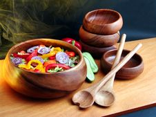 Free Salad From Vegetables Stock Image - 2192271