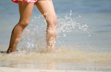 Free Wading Girl Stock Image - 2192501