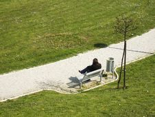Free Lonely Girl In Park Royalty Free Stock Photos - 2192578