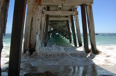 Free Under The Jetty Royalty Free Stock Image - 2194066