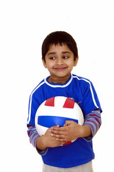 Free Kid With Volleyball Stock Photo - 2194270