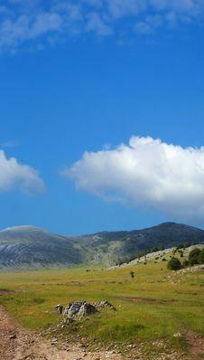 Free Dinara Mountain Over Blue Sky Royalty Free Stock Photo - 2195355