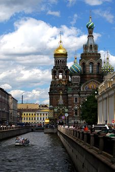 Free View Of The Channel Griboedov Royalty Free Stock Photos - 2195928