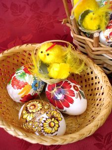 Free Easter Eggs And Chicken Stock Photos - 2196093