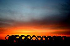 Free Sun Set Landscape Royalty Free Stock Image - 2196246