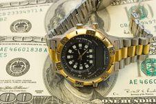 Free Watch On Dollars Stock Photo - 2197330