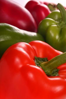 Free Peppers In Different Colors Royalty Free Stock Photos - 2198478