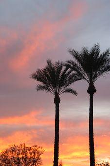 Vertical Mediterranean Sunrise Stock Photo