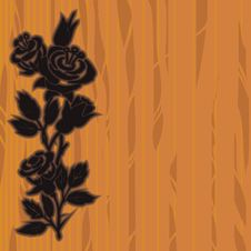 Free Woodcut Roses Stock Photo - 21900850