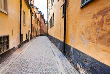 Street In Old Town Galma Stan, Stockholm Royalty Free Stock Photography
