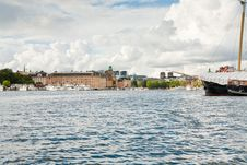 Free Panorama Of Stockholm, Sweden From Sea Side Royalty Free Stock Photography - 21903397