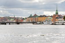 Free Panorama Of Stockholm City, Sweden Royalty Free Stock Photos - 21903558