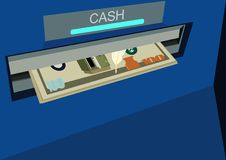 Free ATM With Money Royalty Free Stock Photography - 21906197