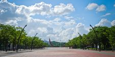 Free Square Of Public Park With Blue Sky And Clouds Stock Images - 21906584