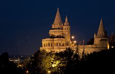 Free Ancient Building In Night Budapest Stock Image - 21907451