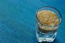 Free Brown Sugar In Glass Royalty Free Stock Photo - 21907515