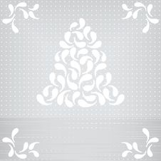 Vector Card With Abstract Christmas Tree Stock Image