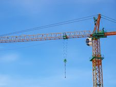 Free Just Crane And Blue Sky Royalty Free Stock Image - 21910056
