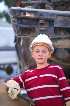 Free The Boy Mechanic Royalty Free Stock Images - 21911499