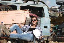 Free Woman Engineer Stock Image - 21911571