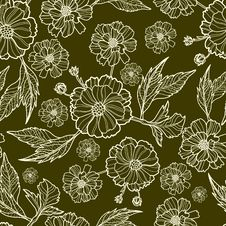 Free Vector Seamless Floral Pattern Stock Images - 21911654