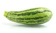 Free Green Zucchini  On White Stock Photography - 21911922