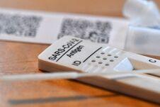 Free Antigen Test Kit For Digital Self-test In Austria, Europe Stock Photos - 219136213
