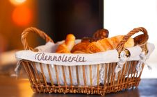 Free Basket With Croissants Royalty Free Stock Image - 21930236