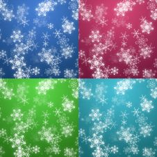 Free Four Colors Christmas Background Stock Photography - 21934092