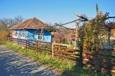 Free Transylvania Blue House Royalty Free Stock Photo - 21934295