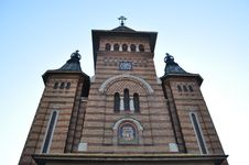 Ortodox Cathedral In Timisoara. Royalty Free Stock Photos