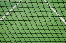 Free Net At Old Tennis Court Stock Photography - 21936702