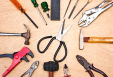 Free Hand Tools. Royalty Free Stock Images - 21937769
